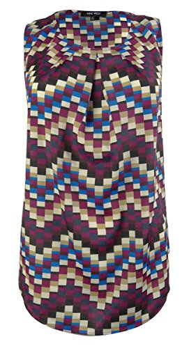 Nine West Womens Pleated Carnival Blouse