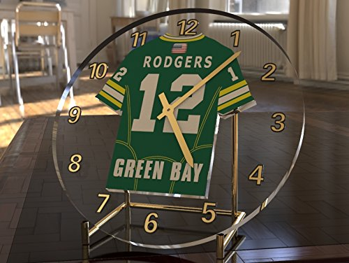 AARON RODGERS GREEN BAY PACKERS NFL AMERICAN FOOTBALL CLOCK - SPORTING LEGENDS LIMITED EDITION FanPlastic
