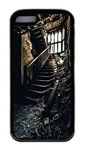 iPhone 5C Case, iPhone 5C Cases -Staircase TPU Rubber Soft Case Back Cover for iPhone 5C ¨CBlack