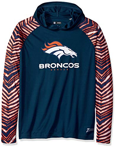 - Zubaz Men's Denver Broncos, Zebra Sleeves, Medium