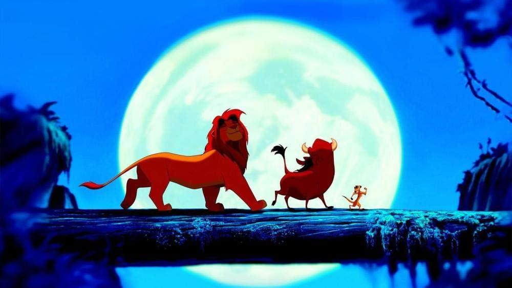 5Tdfc puzzle 1000 piezas madera adulto Rey león en la noche Juguetes educativos para niños, regalos para juegos de bricolaje