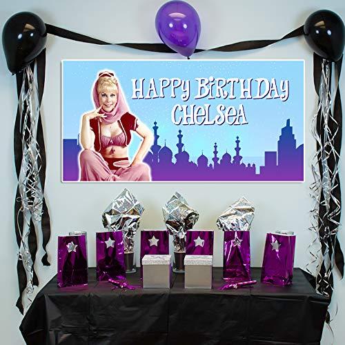 I Dream of Jeannine Birthday Banner Custom Party Backdrop Decoration