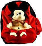 Star Fashion Mickey Mouse Soft toys Kids school Bag for Kids Girls Boys School Backpack-Red Size -14 Inches