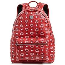 MCM Men's Stark Medium Backpack, Ruby Red, One Size
