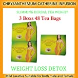 3 boxs 48 Tea Bags Catherine Chrysanthemi Slimming Herbal Tea Weight loss Diet