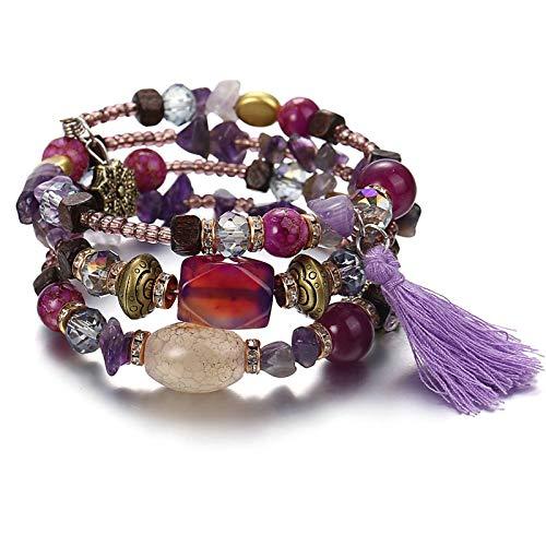 Aooaz Bracelet for Women Geometric Tassel Bangle Bracelets Chain Bracelet Vintage Retro Accessory