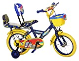 NY Bikes Buzzer 14T Steel Kids Bicycle for 2 to 4 Years Kids (Blue & Yellow)