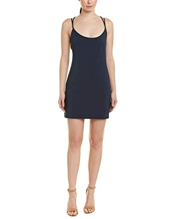 be4cbae5b69 French Connection Women's Whisper Light Sleeveless Strappy Stretch Mini  Dress, New Navy, ...