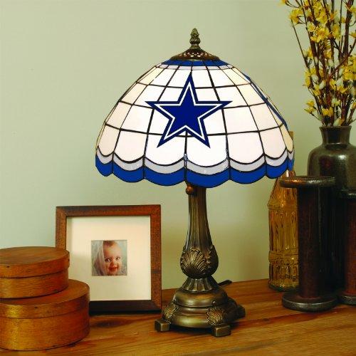 Nfl Football Logo Tiffany Lamp - NFL Dallas Cowboys Tiffany Table Lamp