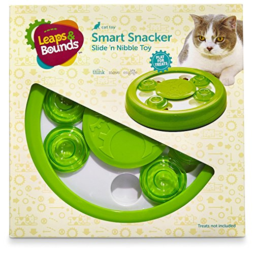 LEAPS & BOUNDS Slide 'n Nibble Treat Toy, 9″ Diameter, Green