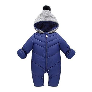 Mono Bebé, LANSKIRT Bebé Niñas Invierno Mono con Capucha Mameluco Grueso Unisex Jumpsuit de Bebé Ropa de Abrigo Chaqueta: Amazon.es: Ropa y accesorios