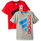 adidas Little Boys' 2 Pack Active Tee Shirt, Assorted, 6