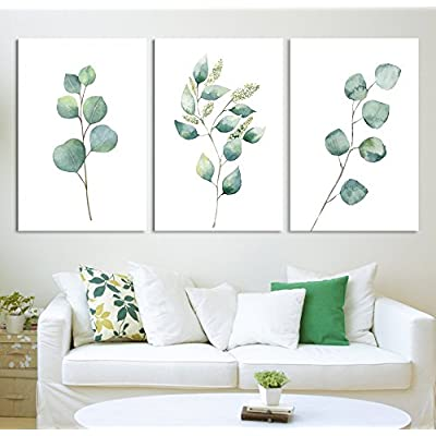 Tropical Plant Leaves Wall Decor x 3 Panels...