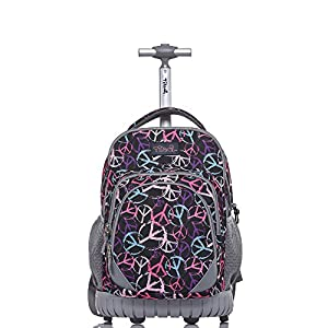 Tilami Rolling Backpack Back 18 Inch,Purple Peace