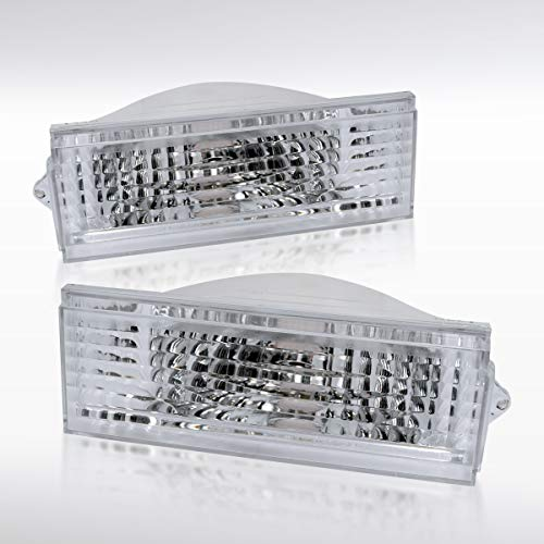 - Autozensation For Jeep Cherokee Euro Clear Chrome Parking Turn Signal Bumper Lights