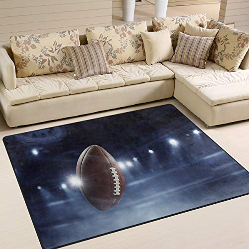 (ALAZA Fantasy American Football Rugby Area Rug Rugs for Living Room Bedroom 7' x 5' )