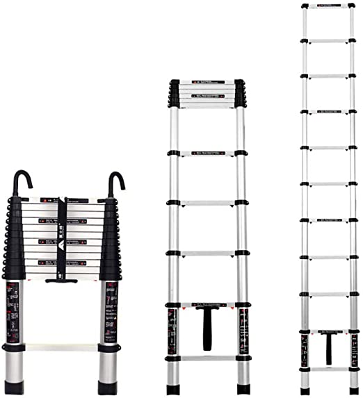 nohbi Escaleras portátiles de alminio Extensibles,Escalera ...