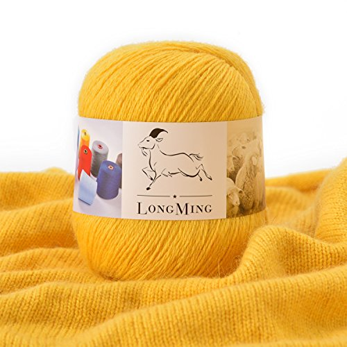LongMing 21Nm/3 3-ply Cashmere Blended Yarn, Soft and Warm, Crafts, Knitting, High Elasticity, Anti-pilling. 12 Colors (50g, L587)