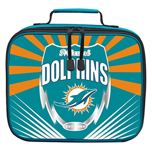 The Northwest Company Officially Licensed NFL Miami Dolphins Lightning Kids Lunch Kit, Green