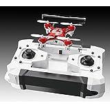 FQ777 Pocket drone ラジコンヘリコプター 室内用 ヘッドレスモード搭載 ミニクワッドコプター ミニマルチコプター ドローン リモート360°飛行 (レッド)