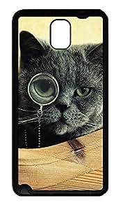 Samsung Note 3 Case Black Cat Funny Animals TPU Custom Samsung Note 3 Case Cover Black doudou's case