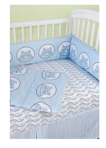 Amazon.com : Modern Basics Boo Hippo Crib Set : Crib Bedding ...