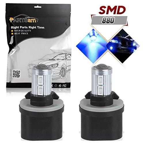 Partsam 880 892 893 899 LED Light Bulbs Fog Driving Lights Daytime Running light Bulbs Ultra Brihgt LED Blue-2Pcs