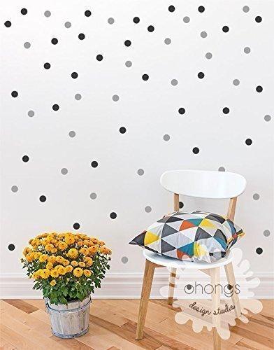 Polka dots Wall Decal / 2Color 140 Polka Dot/Small Polka Dots Decal/Kids wall decoration/boys room/baby room / 1 inch dots/gift