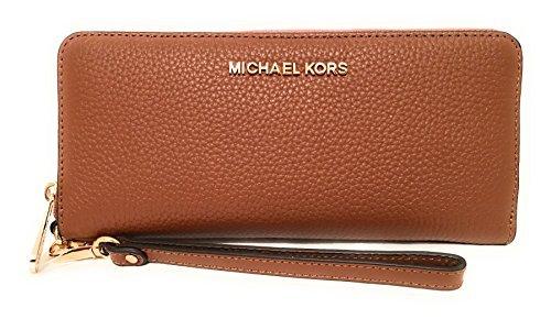 Michael Kors Jet Set Leather Large Zip Around Travel Wallet Luggage