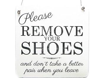 Bitte Schuhe Ausziehen amazon de xl shabby vintage schild türschild dekoschild