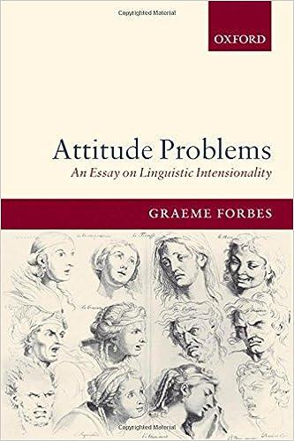 com attitude problems an essay on linguistic com attitude problems an essay on linguistic intensionality 9780199274949 graeme forbes books