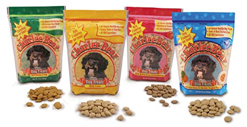 Charlee Bear 16 oz Variety Pack 1 of Each Liver, Liver/Cranberries, Egg & Cheese, Chicken Soup & Garden Veggie