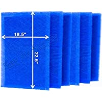 Dynamic Air Cleaner Replacement Filter Pads 20X25 Refills (6 Pack)