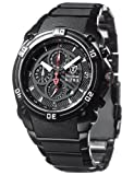 DETOMASO Men's Quartz Stainless Steel Casual Watch, Color:Black (Model: MTM8806C-BK)