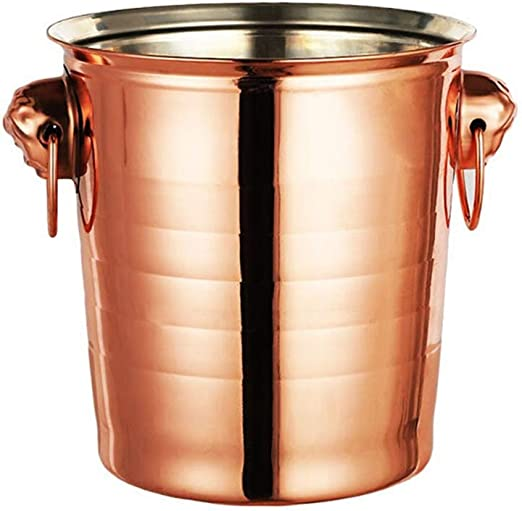 Barware Bar Accessory Gift for Parties Events Gatherings . SHIKSHOOK Stainless Ice Bucket Steel