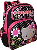 "Hello Kitty Deluxe embroidered 16"" School Bag Backpack"