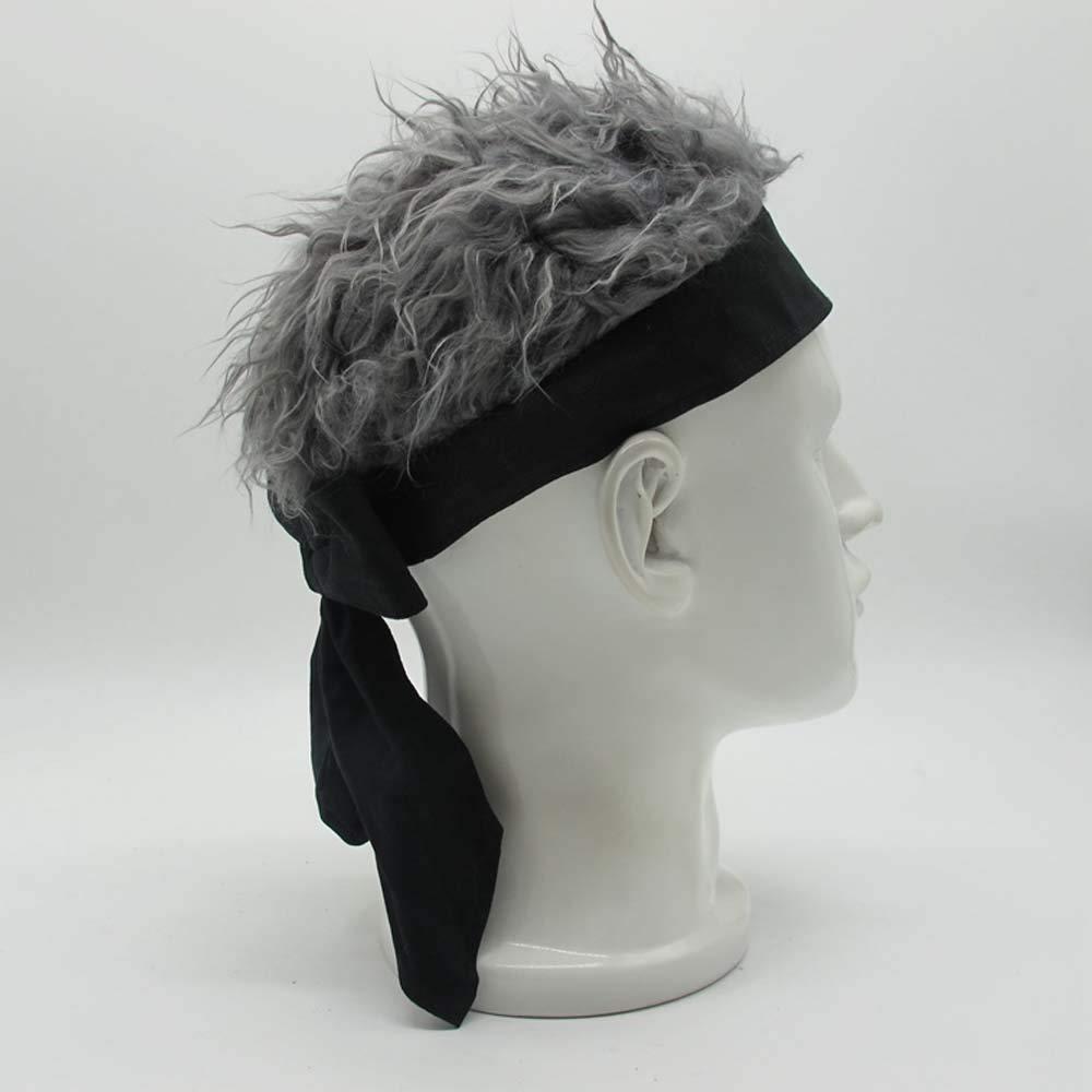 YEKEYI Novelty Team Wear Riding Hats Unisex Cycling Bicycle Cap Fake Hair Wig Visor
