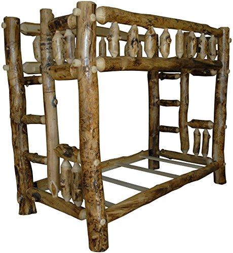 - Aspen Log Bunk Bed - Twin Over Queen