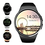 Evershop Bluetooth Smart Watch, 1.5 inches IPS Round Touch Screen Smartwatch with SIM Card and TF Card Slot with Sleep Monitor, Heart Rate Monitor and Pedometer for IOS and Android(Black)
