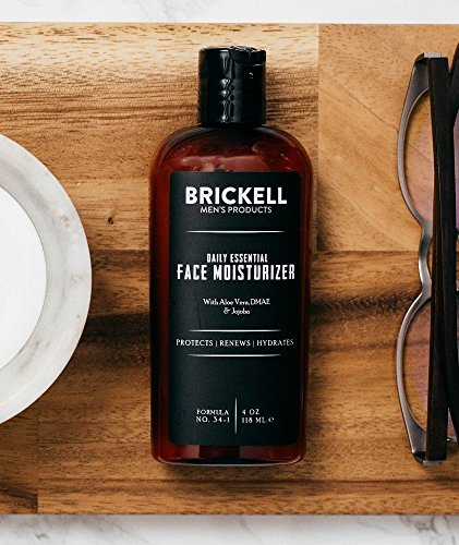 516FkffG3gL - Brickell Men's Daily Essential Face Moisturizer for Men, Natural and Organic Fast-Absorbing Face Lotion with Hyaluronic Acid, Green Tea, and Jojoba, 4 Ounce, Unscented
