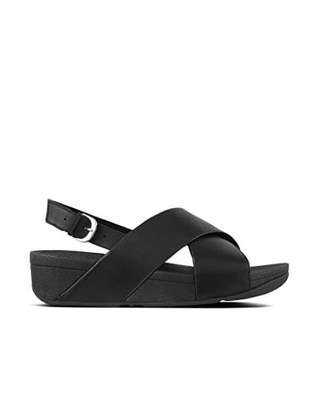 3d0d1f8ff3cc4 FitFlop Women s Lulu Cross Back-Strap Sandals - Shimmer-Print