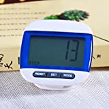 NAMEO Multi-Function Digital Pedometer, Outdoor Step Movement Pedometer Walking Calorie Distance Counter with Extra Large Waterproof LCD Display (Blue)