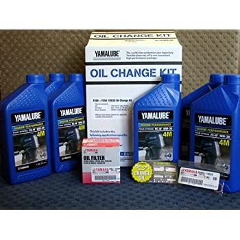 Oem yamaha outboard f200 f250 10w30 oil change for Yamaha f150 lower unit oil