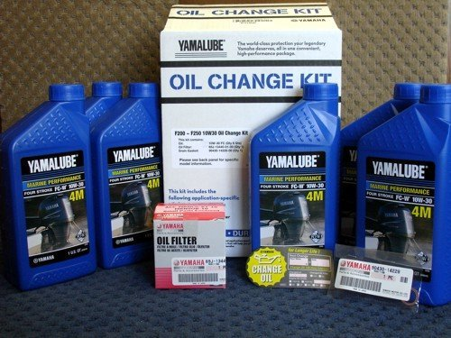 OEM Yamaha Outboard F200~F250 10W30 Oil Change Kit - Outboard Filter Oil