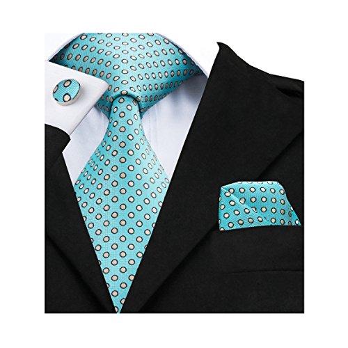 Barry.Wang Men's Polka Dot Tie New Fashion Necktie Set