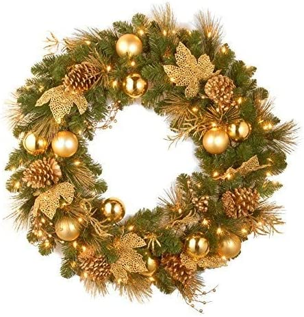 Artificial Christmas Wreath Flocked with Mixed Decorations