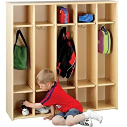 Constructive Playthings Greenspace Laminate 5 Section Preschool Sectional Locker
