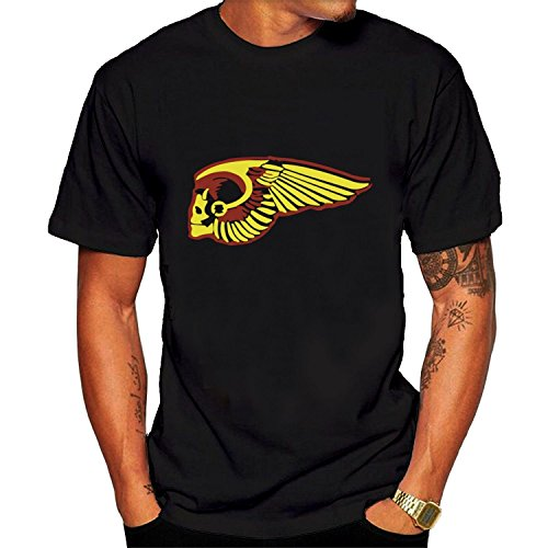 Men's Hells Angels logo T-shirt S - Angels Heavyweight T-shirt
