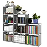 ilios innova Librero Organizador Estante Armado Facil, Resistente Diferentes Colores (Gris)