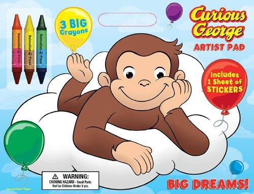 Bendon Publishing Curious George Big Dreams Artist Pad wi...